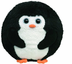 beanie ballz avalanche penguin sliding down