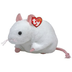 beanie tiny cute white mouse -mouse