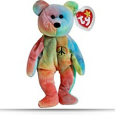 Peace The Neon Tydyed Teddy Bear