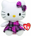 beanie hello kitty tartan -hello dress